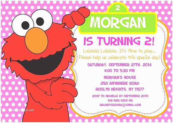 Elmo Birthday Party Invitations Elmo Birthday Party Invitations Sesame Street