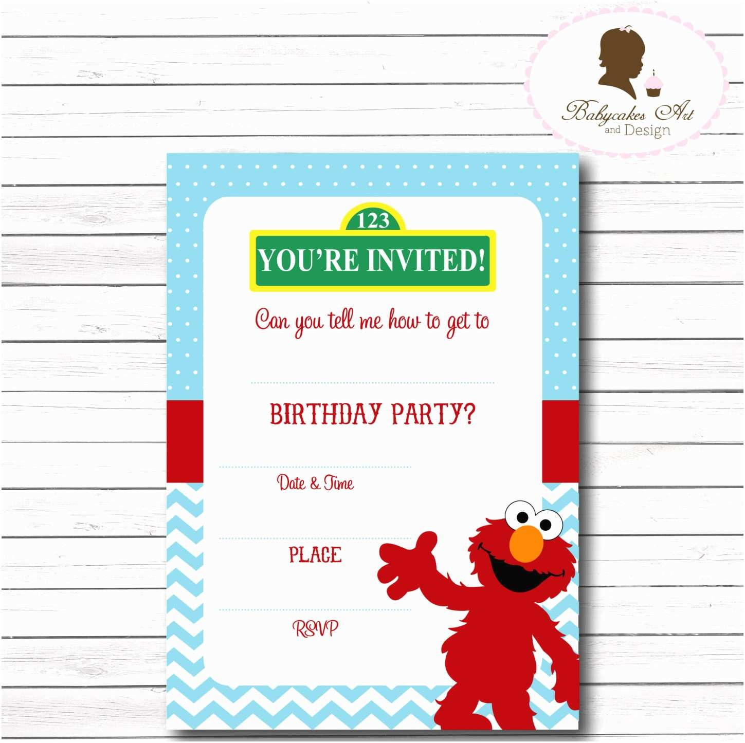 Elmo Birthday Party Invitations Instant Download Elmo Invitation Elmo 1st Birthday by