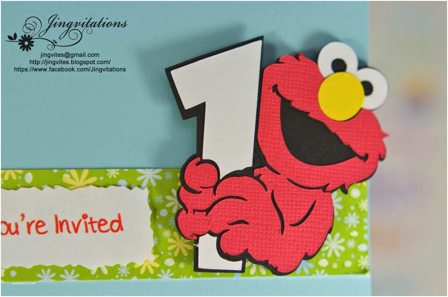 Elmo Birthday Party Invitations Jingvitations Elmo Baby Cards Shower Birthday Party