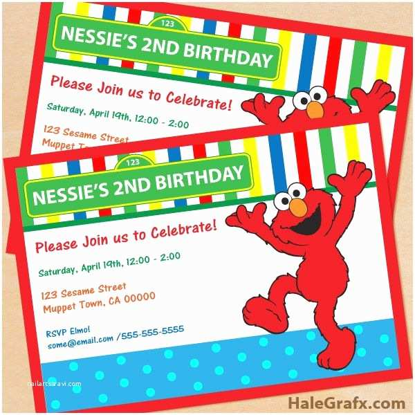 Elmo Birthday Party Invitations Sesame Street Elmo Invite Free Printable Sesame Street