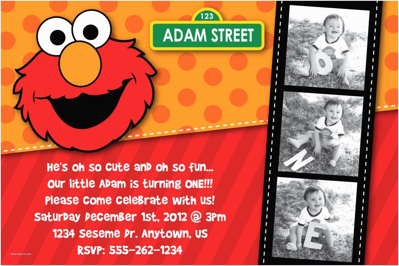 Elmo Party Invitations 1st Birthday Bagvania Free Printable