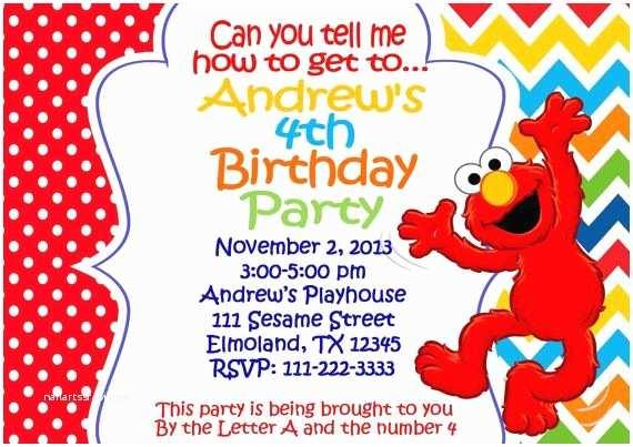 Elmo Party Invitations Elmo 1st Birthday Invitations