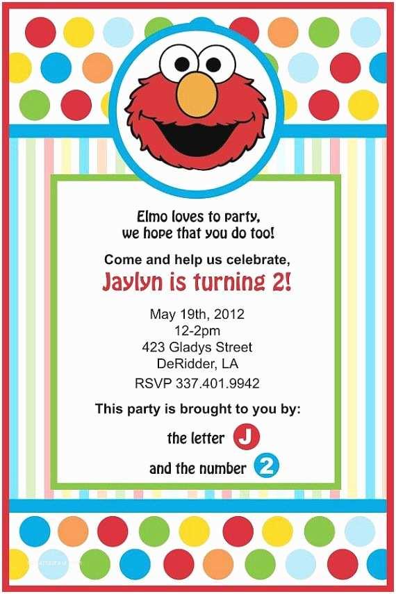 Elmo Party Invitations Elmo Birthday Invitation by Yellowdeskdesigns On Etsy $15