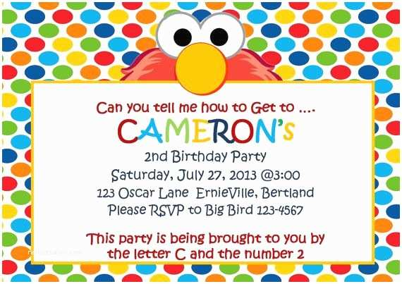 elmo birthday party invitations
