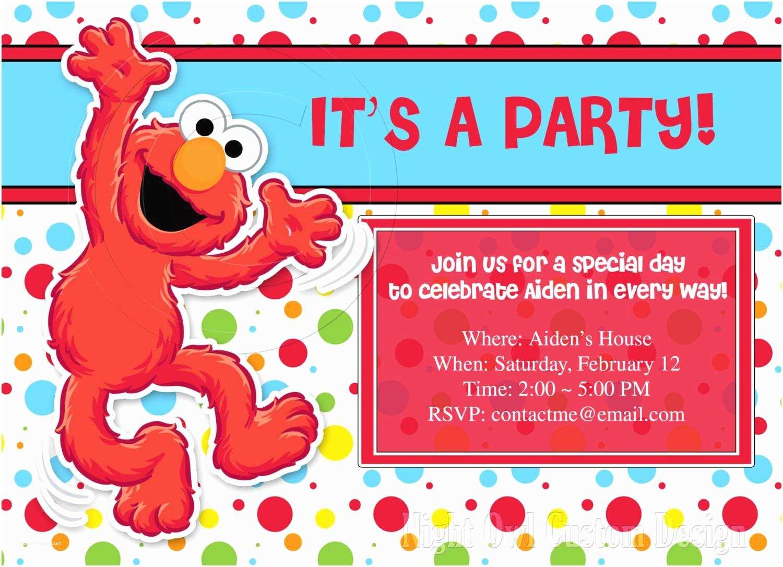 Elmo Party Invitations Elmo Party Invitations