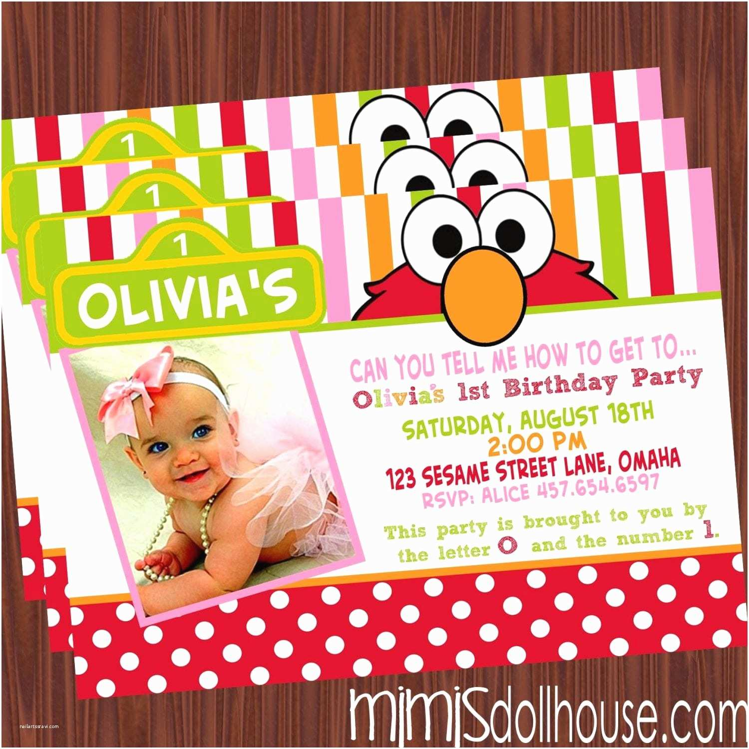 Elmo Party Invitations Printable Collection Pink Mimi S Dollhouse