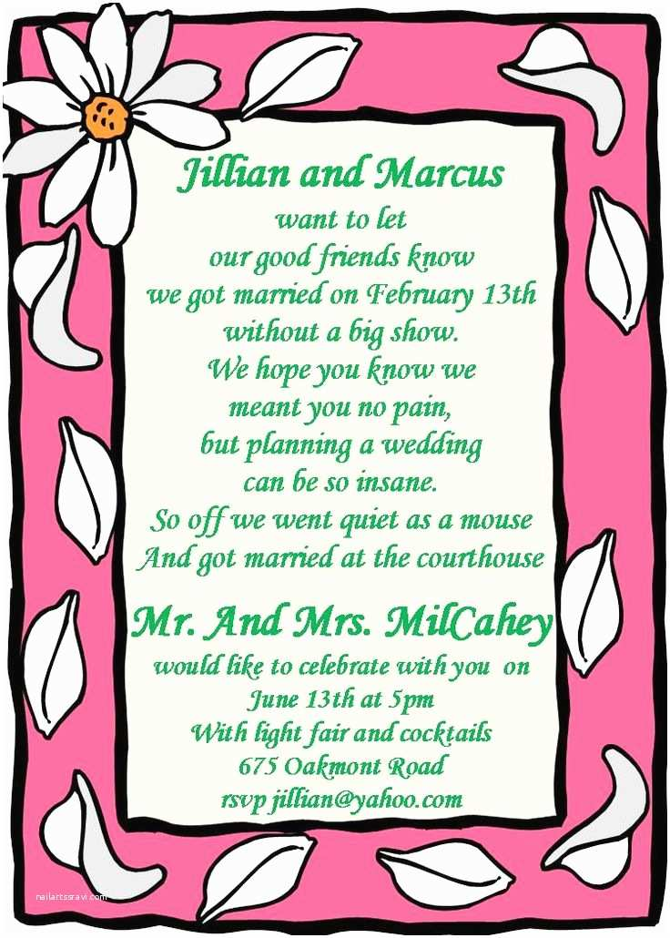 Elopement Party Invitations 25 Best Ideas About Wedding after Party On Pinterest