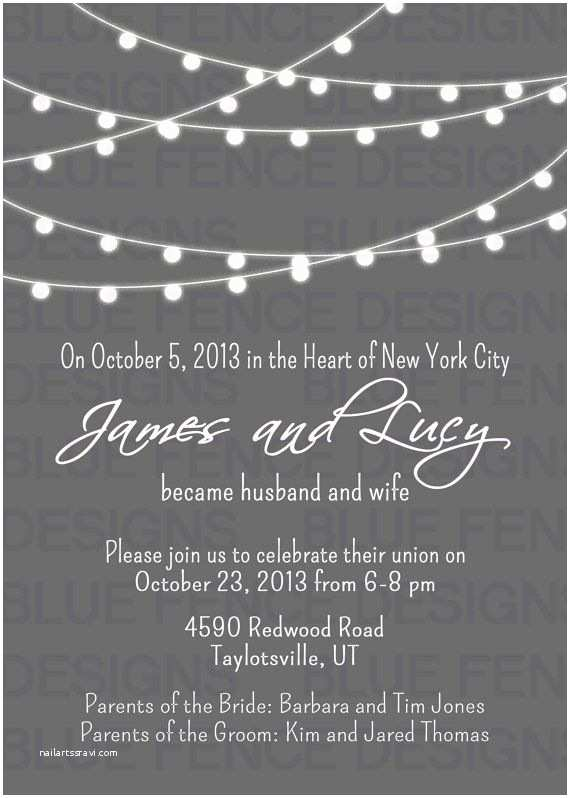 Elopement Party Invitations 9 Best Post Reception Invitations Images On Pinterest