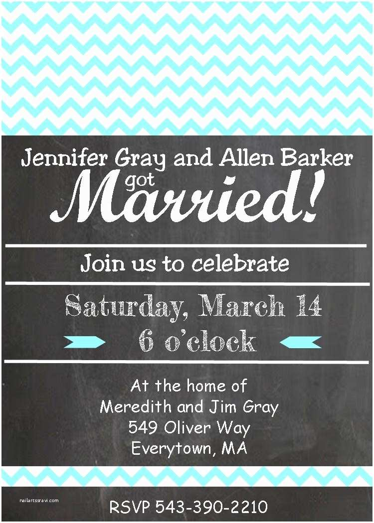 Elopement Party Invitations after the Wedding Party Invitations or Elopement Party