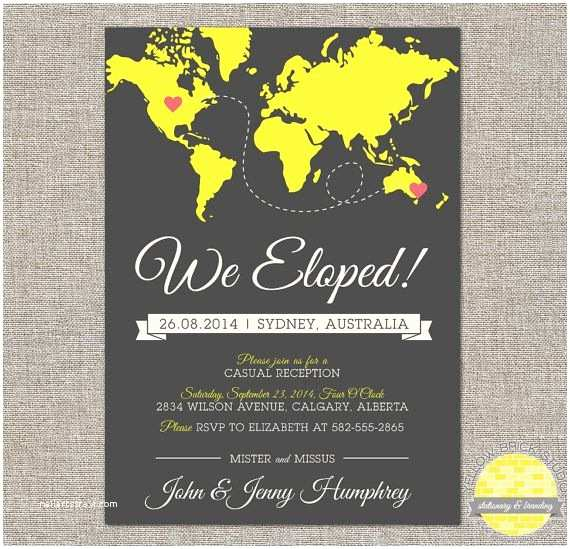 Elopement Party Invitations Best 25 Elopement Reception Ideas On Pinterest