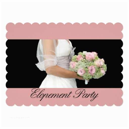 "Elopement Party Invitations Elopement Party 5"" X 7"" Invitation"