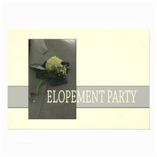 Elopement Party Invitations Elopement Party 5x7 Paper Invitation
