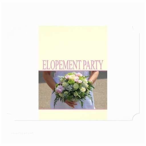 Elopement Party Invitations Elopement Party 5x7 Paper Invitation Card