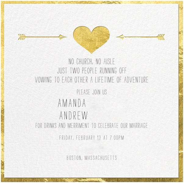 Elopement Party Invitations Elopement Party Invitation