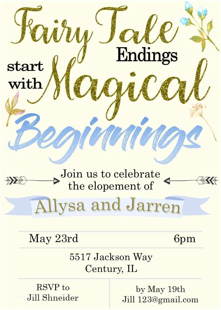 Elopement Party Invitations Elopement Party Invitations Reception Ly Invitations