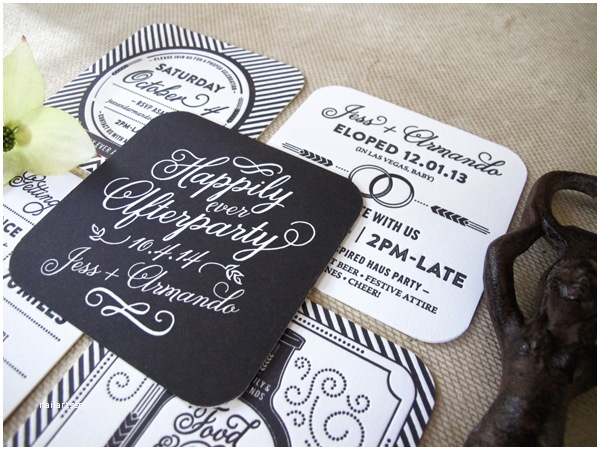 Elopement Party Invitations Happily Ever afterparty