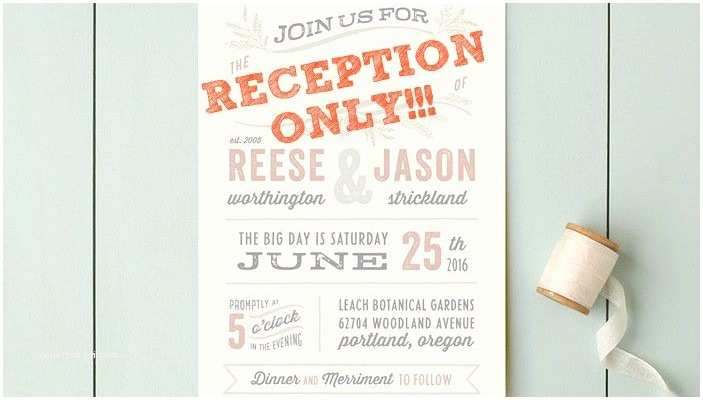 Elopement Party Invitations Post Elopement Reception Wording the Invitations