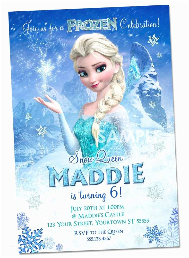 Elsa Birthday Invitations Disney Frozen Invitations Personalized