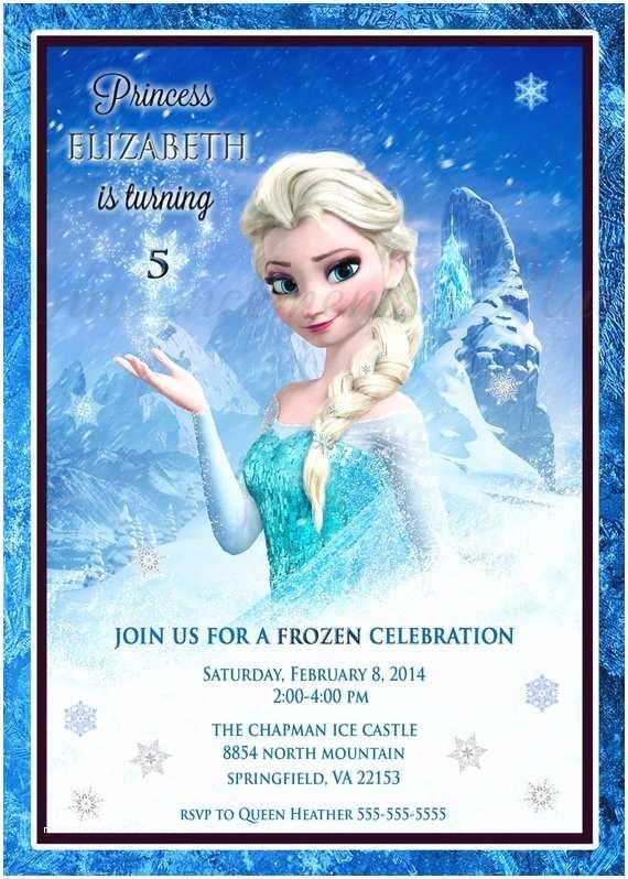 Elsa Birthday Invitations Elsa Birthday Invitations