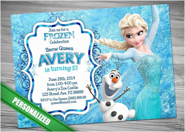 Elsa Birthday Invitations Elsa Frozen Invitation Olaf Frozen Birthday by Cuteprintable