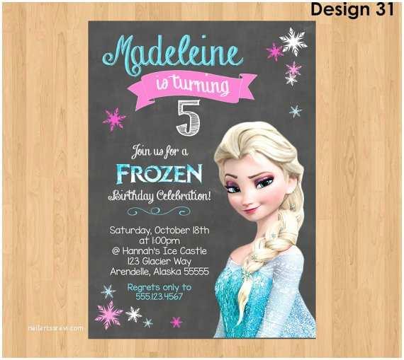 elsa invitation frozen chalkboard