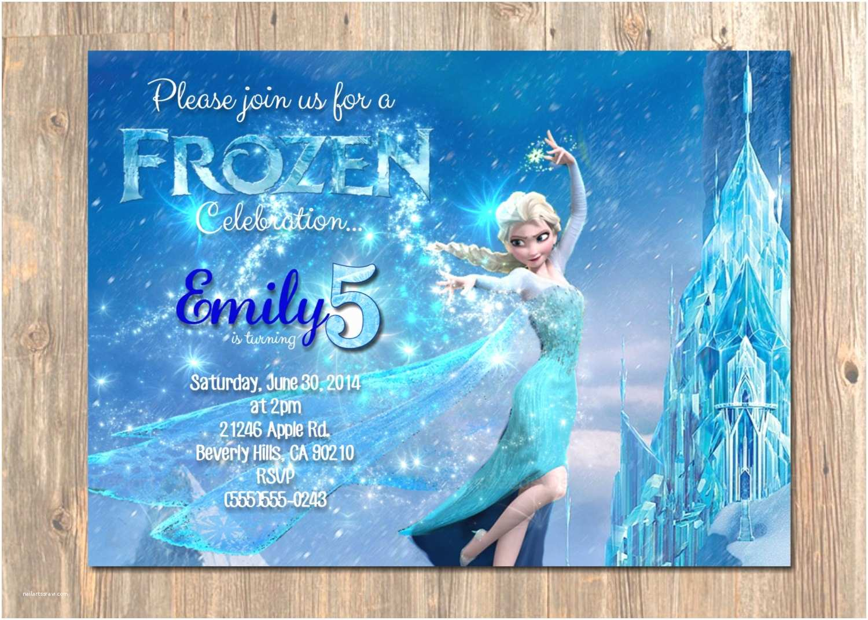 Elsa Birthday Invitations Frozen Birthday Invitation Elsa Frozen Invitation Printable