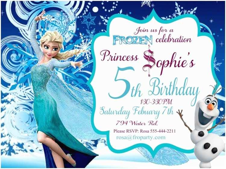 Elsa Birthday Invitations Frozen Birthday Invitation Printable Frozen Elsa