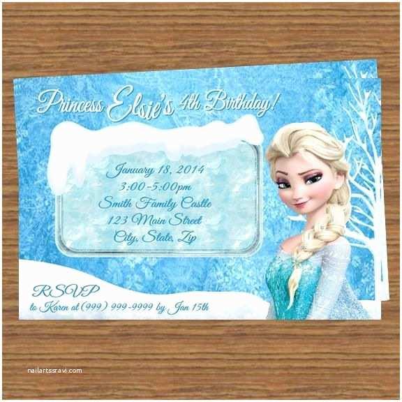 Elsa Birthday Invitations Princess Elsa Frozen Party Invitations