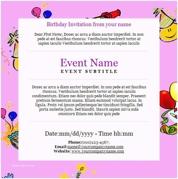 Email Party Invitations Email Etiquette Ppt Templates Templates Resume
