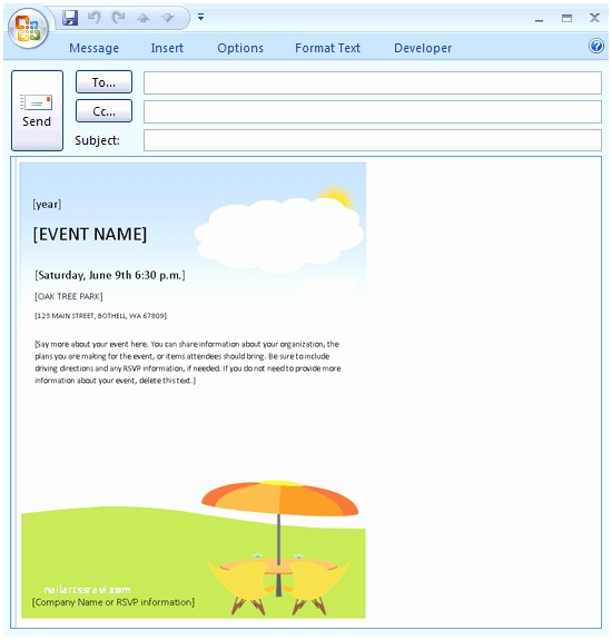 Email Party Invitations Email Invite Template