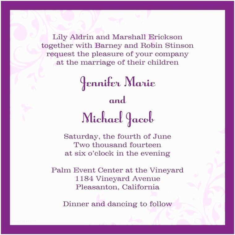 Email Wedding Invitations Free Wedding Invitation Mail format for Fice Yaseen for
