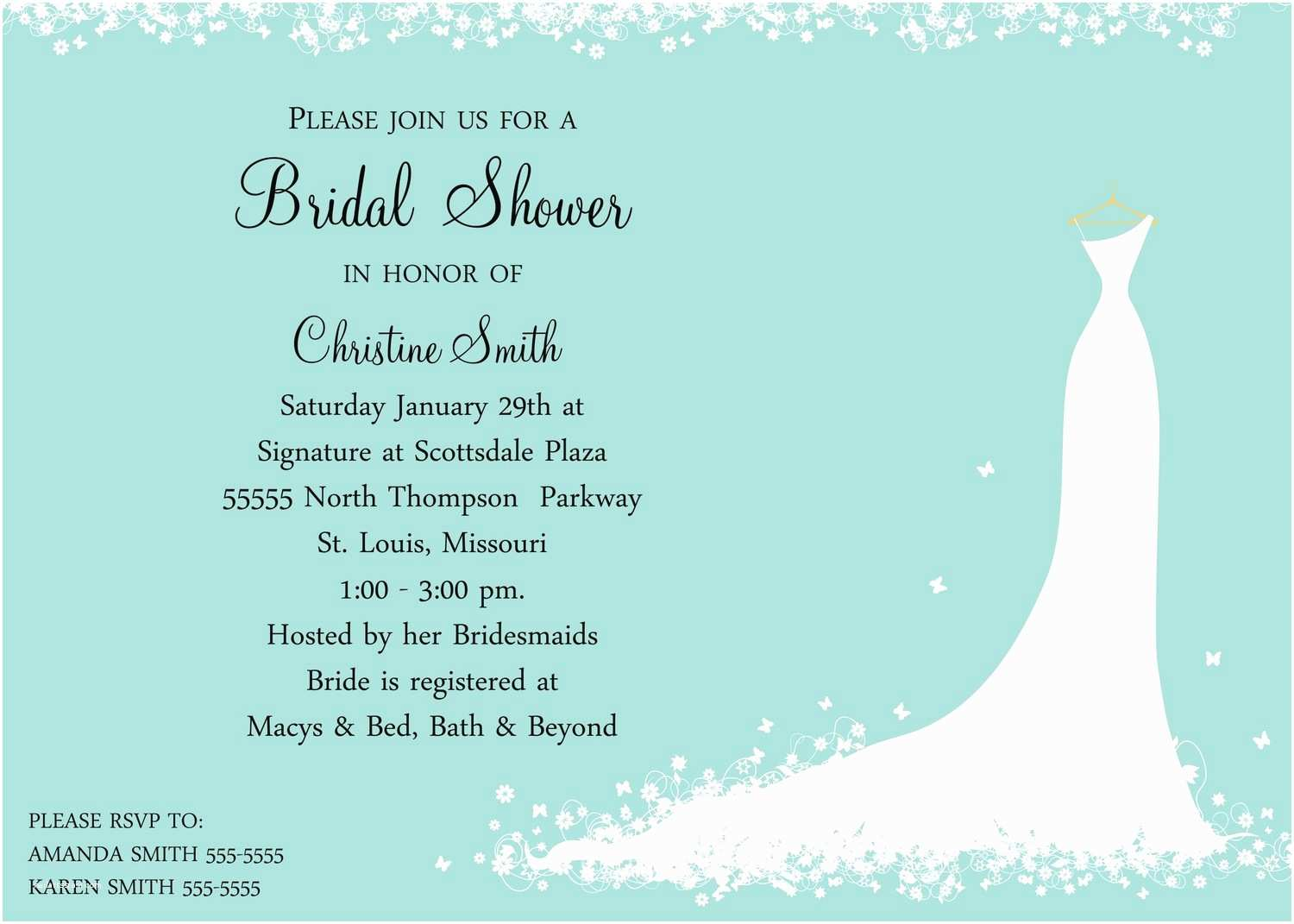 Email Wedding Shower Invitations Bridal Shower Invitations Bridal Shower Invitation