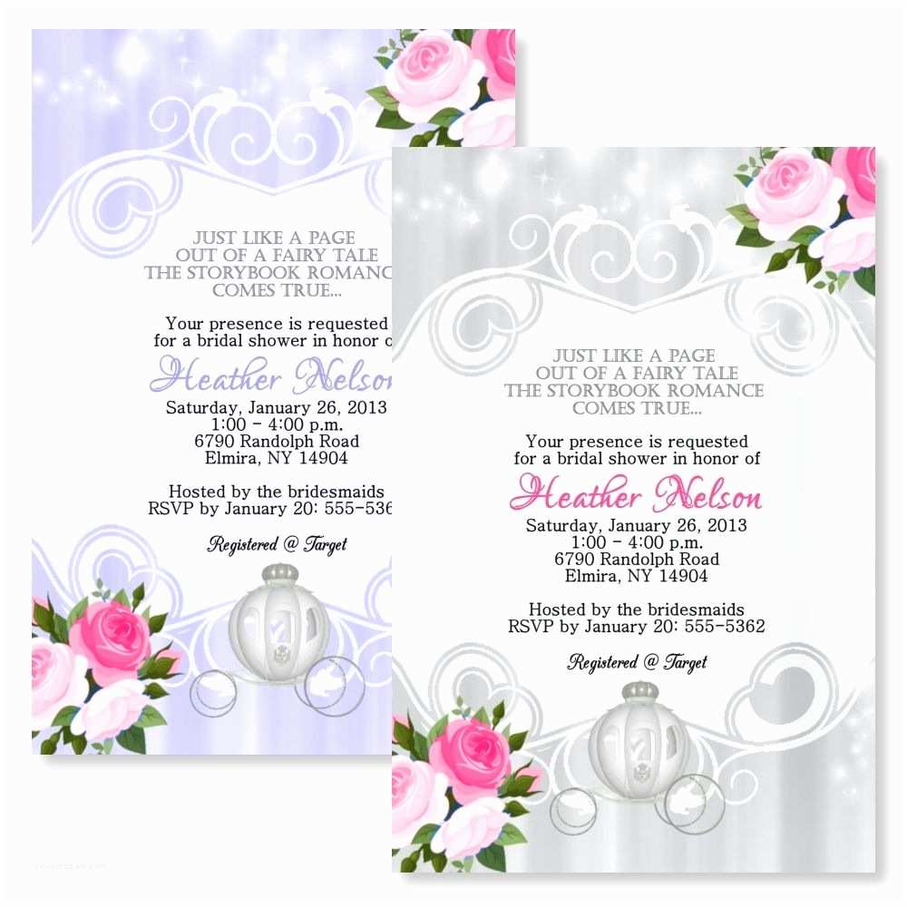 Email Wedding Shower Invitations Fairytale Personalized Bridal Shower Invitations Wedding