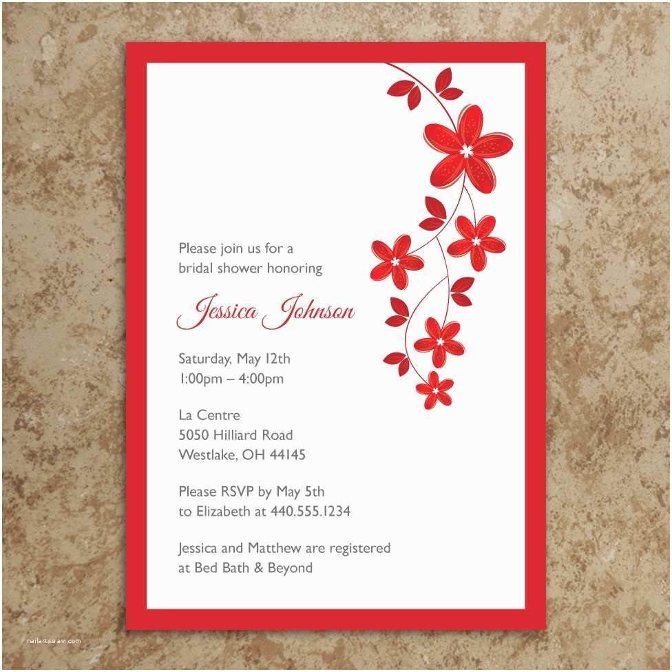 Email Wedding Shower Invitations Flower Invitation – Diy Printable Invitation – Bridal