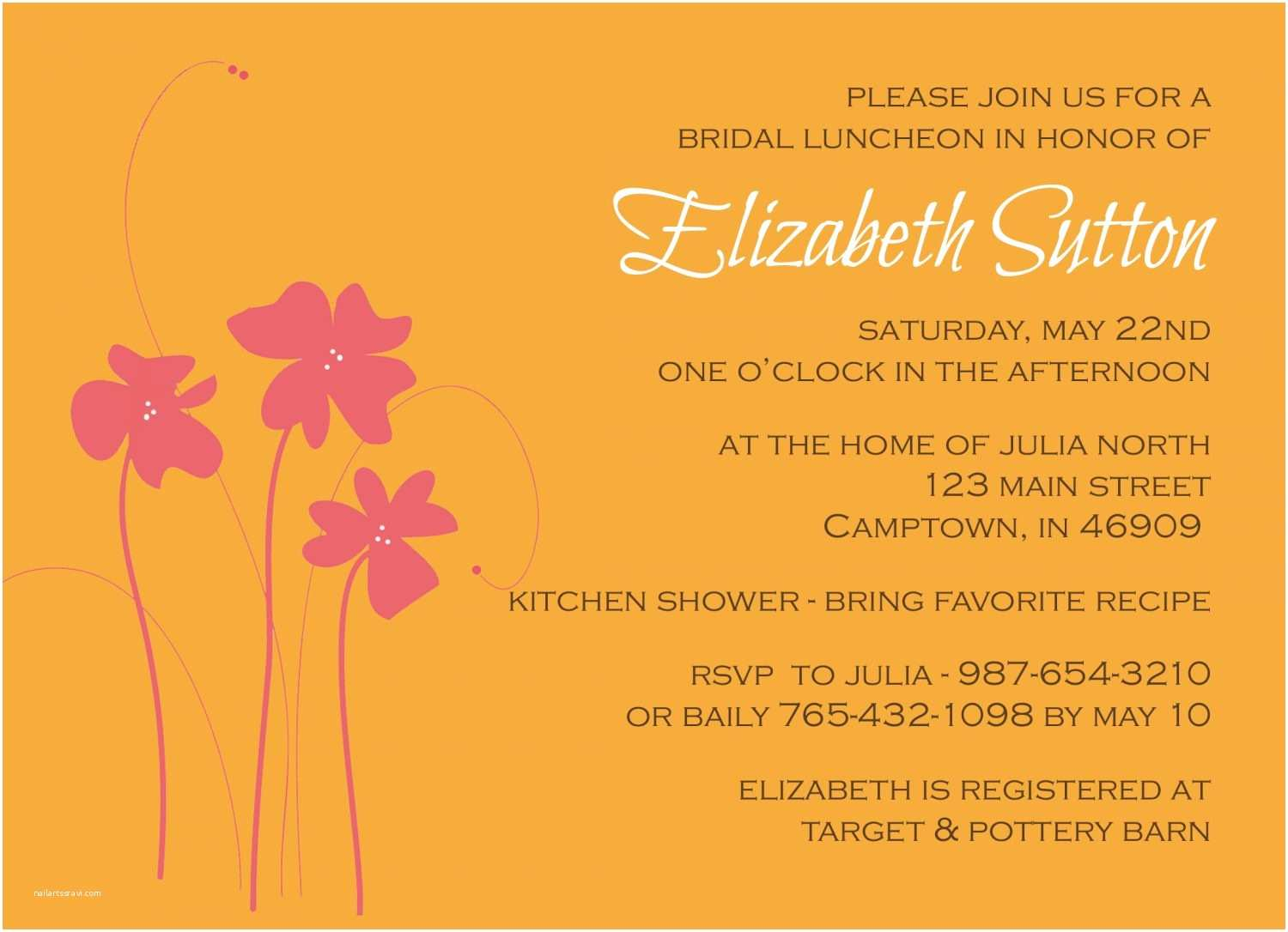Email Wedding Shower Invitations Free Customizable Bridal Shower Invitations