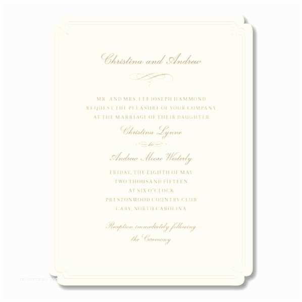 Embossed Wedding Invitations Belgique Embossed Ecru Wedding Invitations