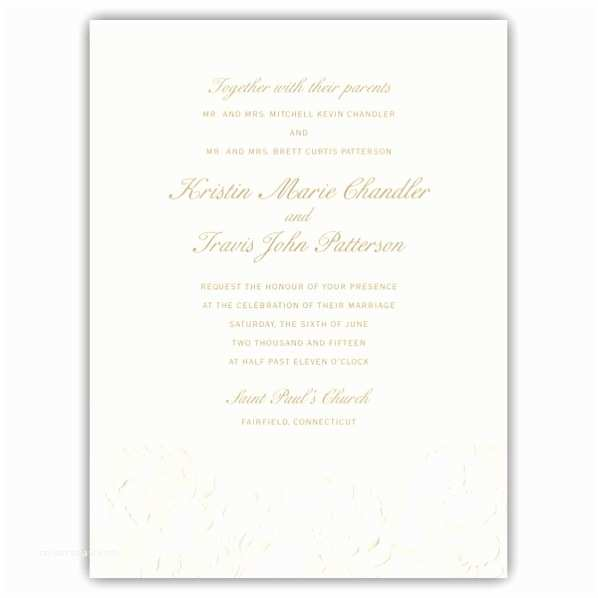 Embossed Wedding Invitations Embossed Flower Wedding Invitations