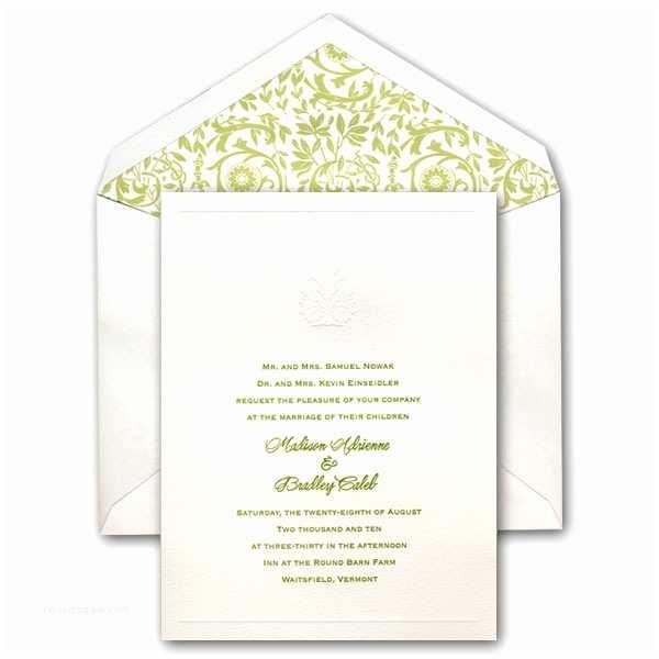 Embossed Wedding Invitations Embossed Victorian Tree Wedding Invitations