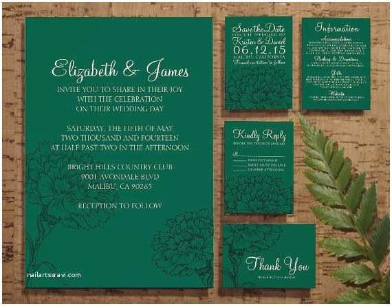 Emerald Green Wedding Invitations 25 Best Ideas About Green Wedding Invitations On