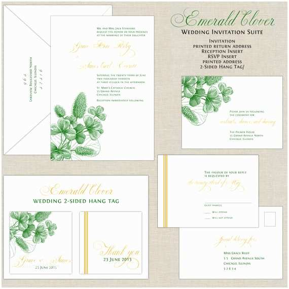 Emerald Green Wedding Invitations Emerald Green Wedding Invitations Botanical Wedding