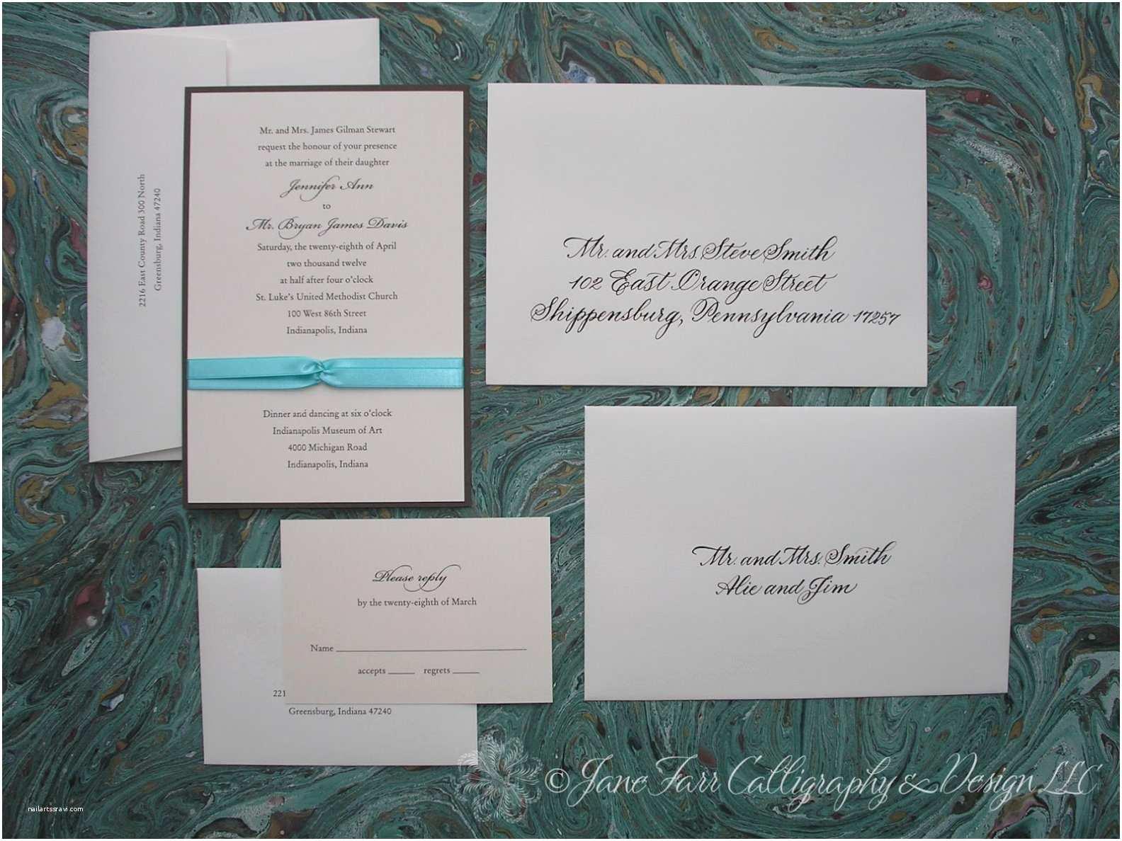 Emily Post Wedding Invitation Emily Post Wedding Invitation