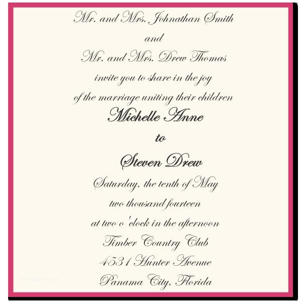 Emily Post Wedding Invitation Wording Sample for Wedding Invitations Wedding Invitation
