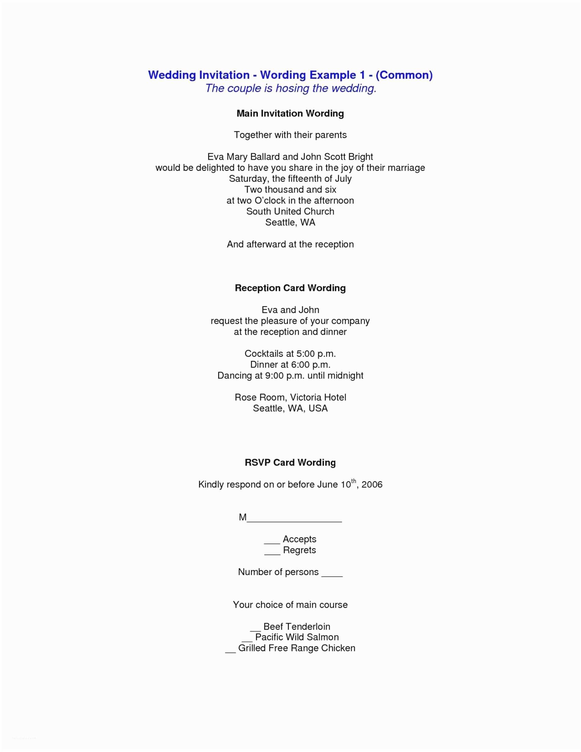 Emily Post Wedding Invitation Wording Sample Wedding Invitation Wording with Reception