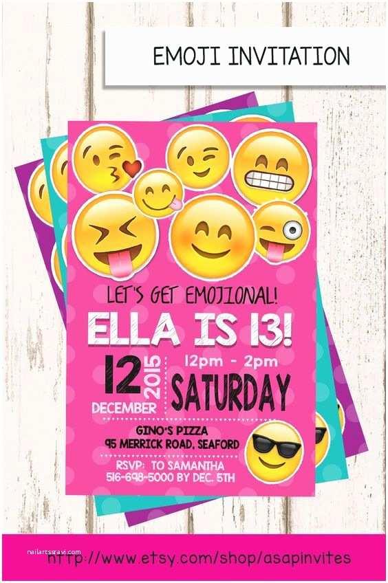 Emoji Party Invitations Emoji Birthday Invitation Emojis Emoji Invite