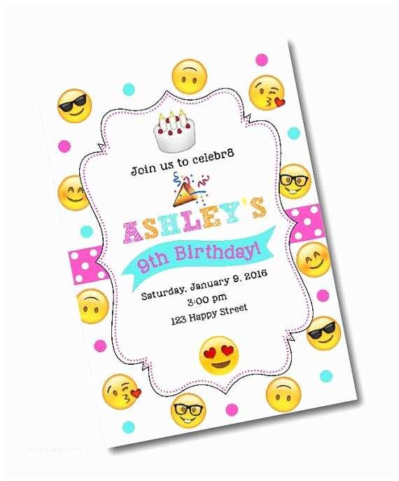 Emoji Party Invitations Birthday Invitation By