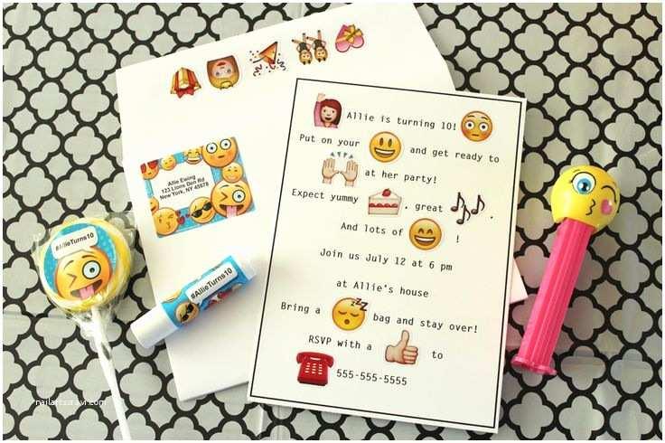 Emoji Party Invitations Emoji Party Ideas