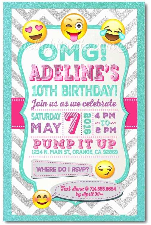 Emoji Party Invitations Printable Digital Emoji Birthday Party Invitations for