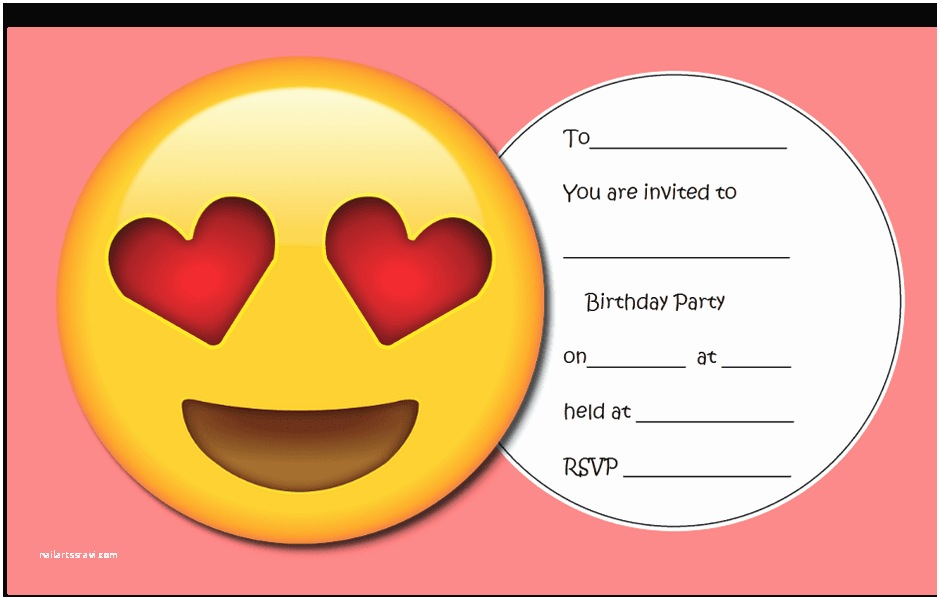 Emoji Party Invitations Throw the Ultimate Emoji Party