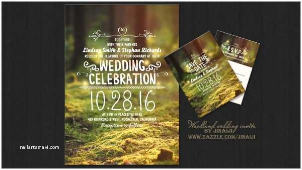 Enchanted forest themed Wedding Invitations Other Invitations