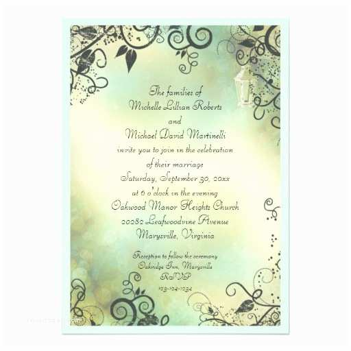 Enchanted Wedding Invitations Enchanted evening Wedding 5x7 Paper Invitation Card